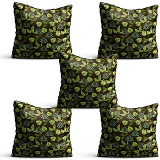 Pratibimb- Set of 5 Garden theme designer printed Cushion Covers