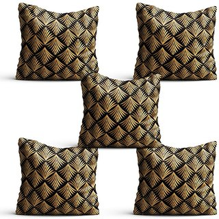 Pratibimb- Set of 5 Abstract Designs Printed Cushion Covers