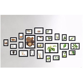 CRETE Wall Hanging Brown Photo Frame Set - Pack of 26