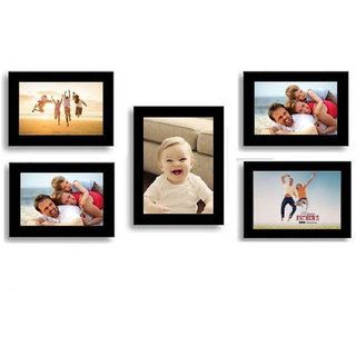 CRETE Wall Hanging Brown Photo Frame Sets - Pack of 5