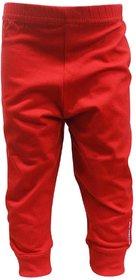 Tumble Red Full Length Plain Leggings - 9 to 12 Months