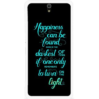 Snooky Printed Everywhere Happiness Mobile Back Cover For Sony Xperia C5 - Multicolour