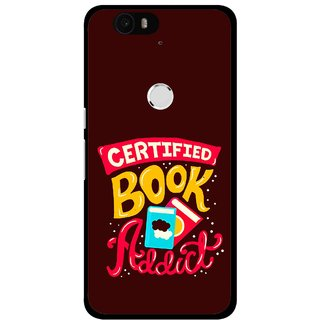 Snooky Printed Reads Books Mobile Back Cover For Huawei Nexus 6P - Multi