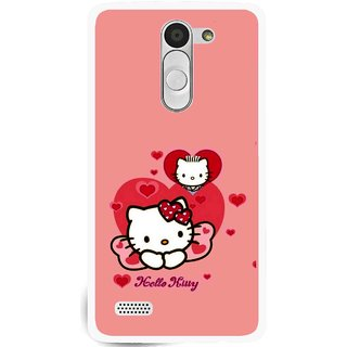 Snooky Printed Pinky Kitty Mobile Back Cover For Lg L Fino - Multi