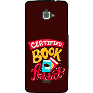 Snooky Printed Reads Books Mobile Back Cover For Infocus M350 - Multi