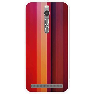 Snooky Printed Colorfull Stripes Mobile Back Cover For Asus Zenfone 2 - Multi
