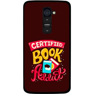 Snooky Printed Reads Books Mobile Back Cover For Lg G2 - Multi