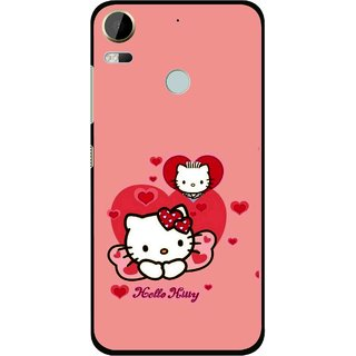 Snooky Printed Pinky Kitty Mobile Back Cover For HTC Desire 10 Pro - Multi