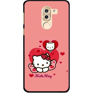 Snooky Printed Pinky Kitty Mobile Back Cover For Huawei Honor 6X - Multi