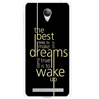 Snooky Printed Wake up for Dream Mobile Back Cover For Vivo Y28 - Multicolour