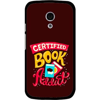 Snooky Printed Reads Books Mobile Back Cover For Moto G2 - Multi