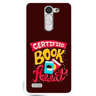 Snooky Printed Reads Books Mobile Back Cover For Lg L Fino - Multi