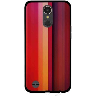 Snooky Printed Colorfull Stripes Mobile Back Cover For LG K10 2017 - Multi