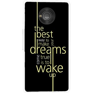 Snooky Printed Wake up for Dream Mobile Back Cover For Micromax Yu Yuphoria - Multicolour
