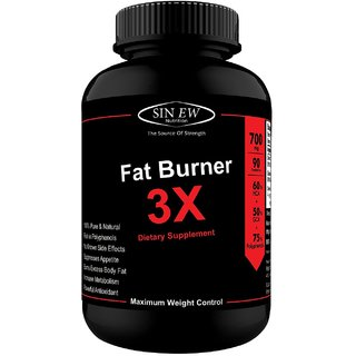 Sinew Nutrition Natural Fat Burner 3X (Green Tea, Green Coffee  Garcinia Cambogia Extract) - 700 mg (90 Veg Capsules)