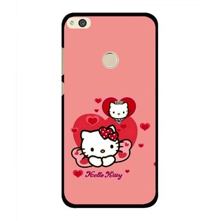 Snooky Printed Pinky Kitty Mobile Back Cover For Huawei Honor 8 Lite - Multi
