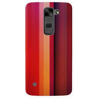 Snooky Printed Colorfull Stripes Mobile Back Cover For Lg Stylus 2 - Multi
