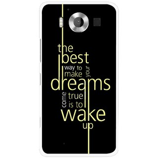 Snooky Printed Wake up for Dream Mobile Back Cover For Microsoft Lumia 950 - Multicolour