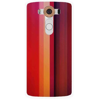 Snooky Printed Colorfull Stripes Mobile Back Cover For Lg V10 - Multi