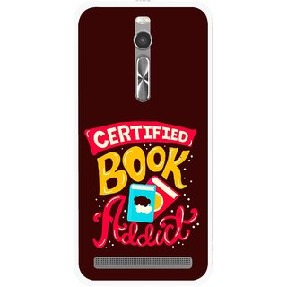 Snooky Printed Reads Books Mobile Back Cover For Asus Zenfone 2 - Multi