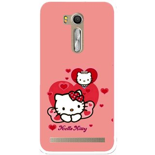 Snooky Printed Pinky Kitty Mobile Back Cover For Asus Zenfone Go ZB551KL - Multi