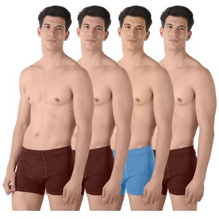 (PACK OF 4) COMMON-COMFORT Men's Trunk/Underwear - Multi-Color
