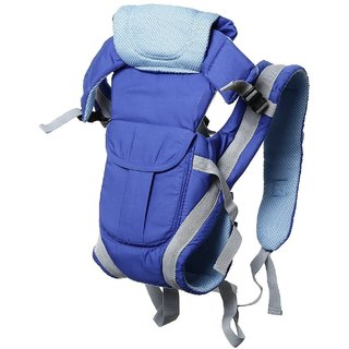 JOHN RICHARD Adjustable Hands-Free 4-in-1 Baby Carry Bag with Comfortable Head Support Buckle Straps (Blue)