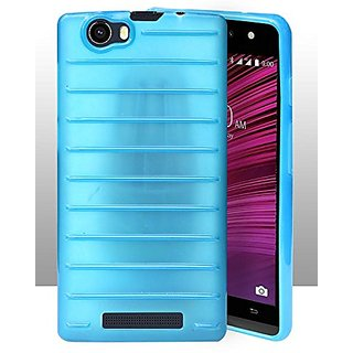ECellStreet Protection Brick Soft Back Cover For Lava A97 4G - Light Blue