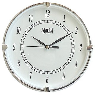 N.K. Enterprises Fancy Analog Wall Clock Small Size For Home And Office Round White