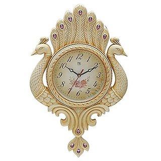N K Enterprises Nk Pea Pendulum Wall Clock Watch Decor Antique White