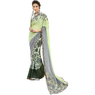 Aagaman Multicolor Georgette Festival Wear Printed Saree