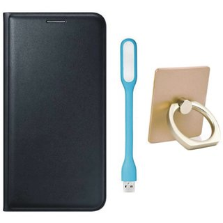 Redmi Note 3 Flip Cover with Ring Stand Holder, USB LED Light