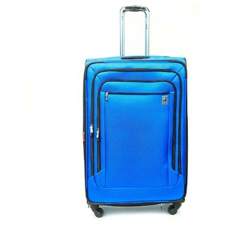 Delsey Air Spree 25' Carry on Spin Suiter Tr Blue
