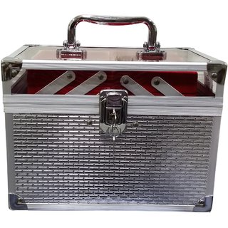 Pride Daisy to store cosmetics Vanity Box (Silver)