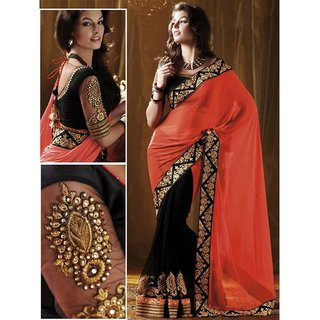 Bollywood Designer Oranhe Georgette Saree