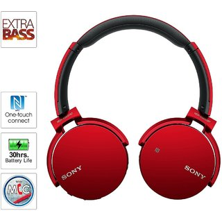 Sony Mdr Xb650BT Headphone   Red