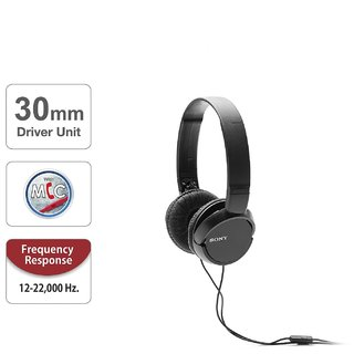 Sony Stereo MDR-ZX110AP Headphone Black
