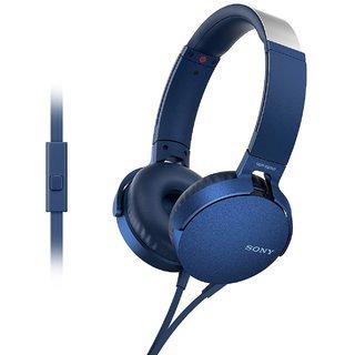 Sony Stero MDR-XB550AP Bluetooth Headphone Blue
