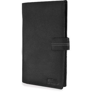 arpera genuine leather passport holder for 4 passports Black C11589-1