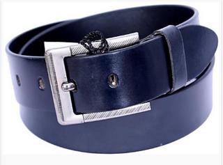 Port Blue Casual Leather Belt For Men