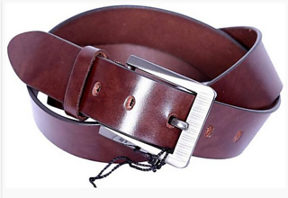 Port Dark Brown Casual Leather Belt For Men