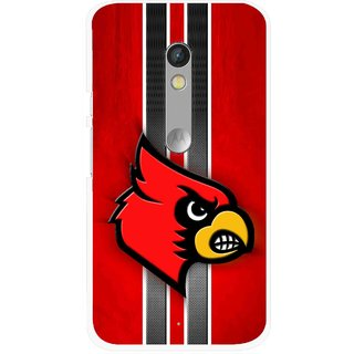 Snooky Printed Red Eagle Mobile Back Cover For Motorola Moto X Play - Multi
