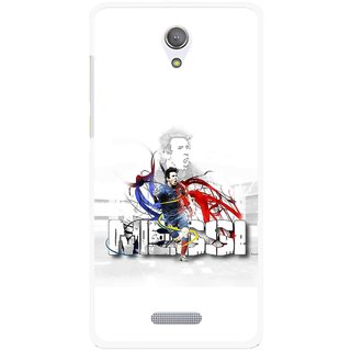 Snooky Printed Messi Mobile Back Cover For Gionee Marathon M4 - Multicolour
