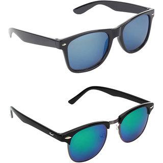 Zyaden Combo of Two Wayfarer Sunglasses