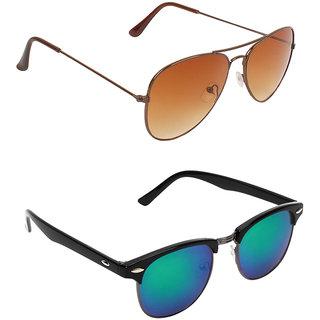 Zyaden Combo of Two Aviator Sunglasses