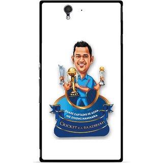 Snooky Printed Cricket Ka Badshah Mobile Back Cover For Sony Xperia Z - Multicolour