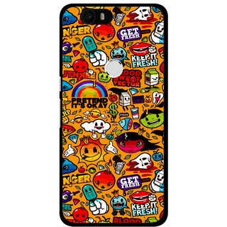 Snooky Printed Freaky Print Mobile Back Cover For Huawei Nexus 6P - Multi