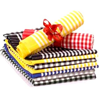 SOFTEE 7pc Cotton Kitchen Napkin - 30cmX30cm