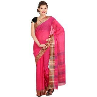Sofi Women's Pink Cotton Sari