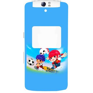 Snooky Printed Childhood Mobile Back Cover For Oppo N1 - Multi